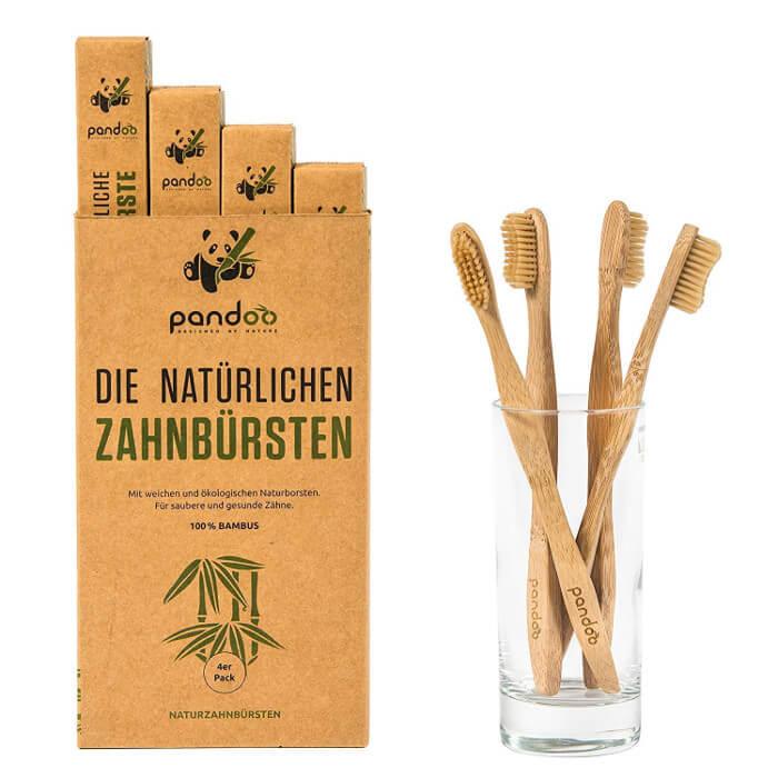 Cepillo de dientes de bambú Pandoo