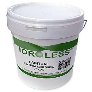 Bote de cinco kg de pintura de cal idroless