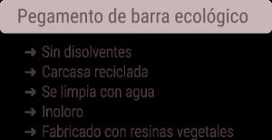 características del pegamento de barra ecológico