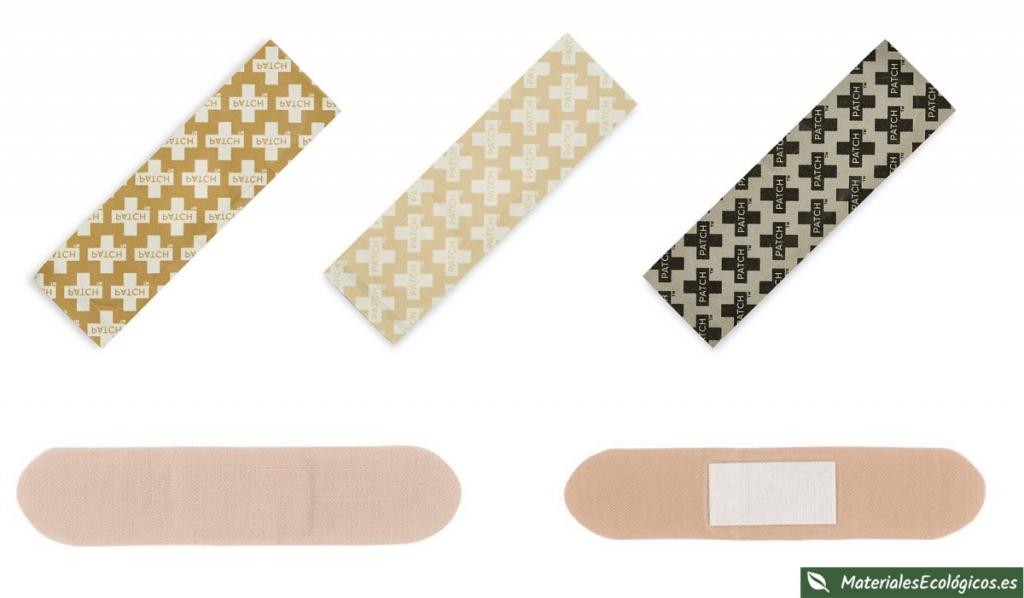 Tiritas de bambú para heridas