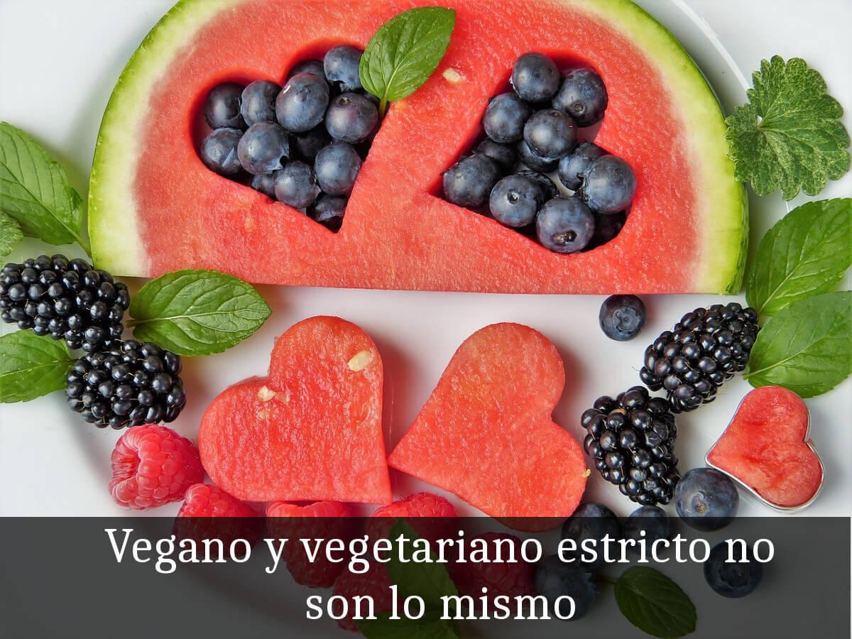 Diferencia entre vegano y vegetariano estricto