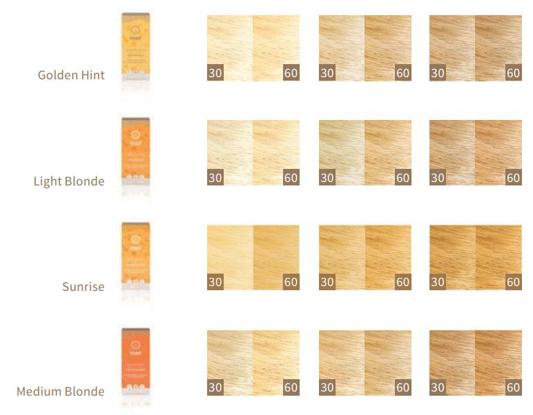 Comprar tinte rubio orgánico para cabello Khadi Natural