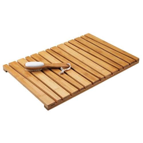 Alfombra de baño de bambú