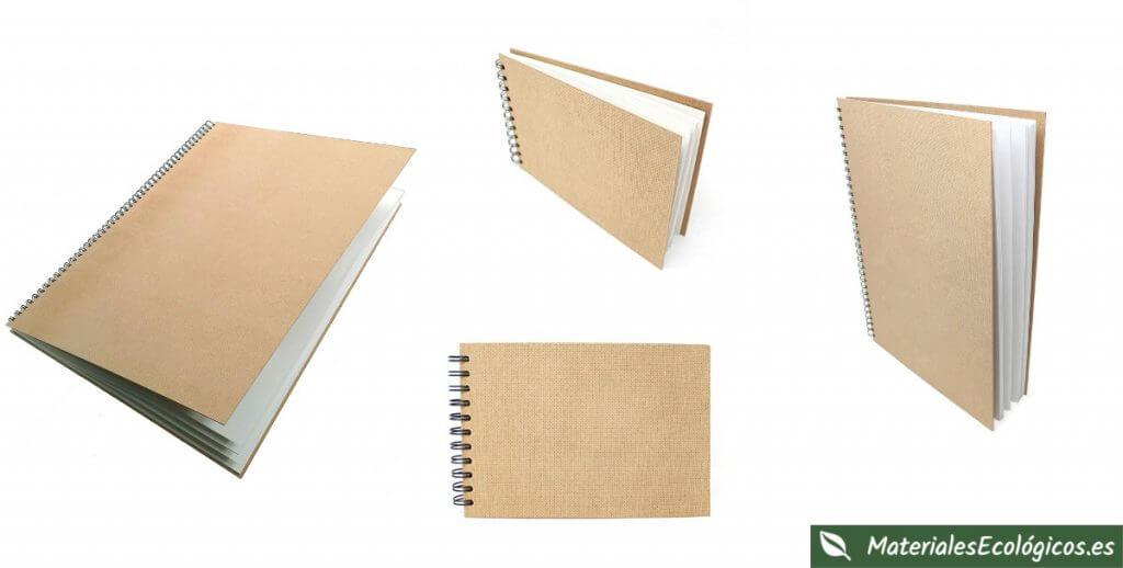 Blocs de espiral ecológicos con papel reciclado