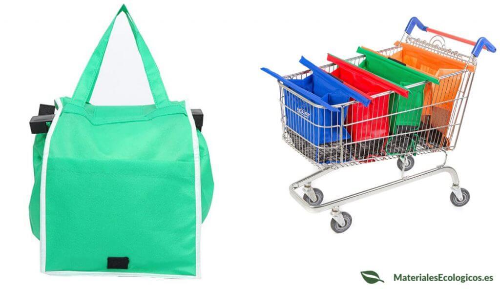 Bolsas reutilizables para el carro de la compra