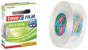 celo ecológico con película adhesiva de plástico reciclado