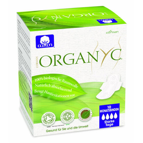 Compresas ecológicas de algodón orgánico