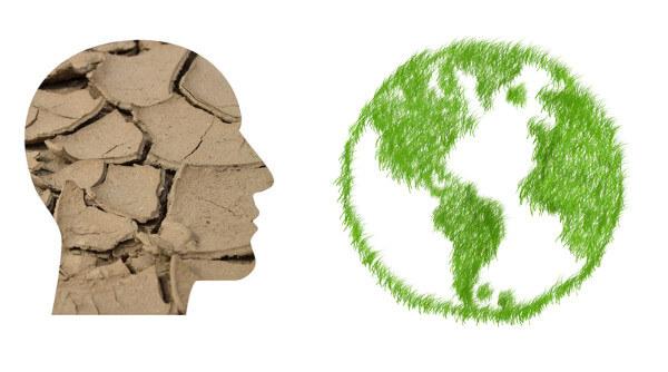 Mirada ecológica planeta sostenible