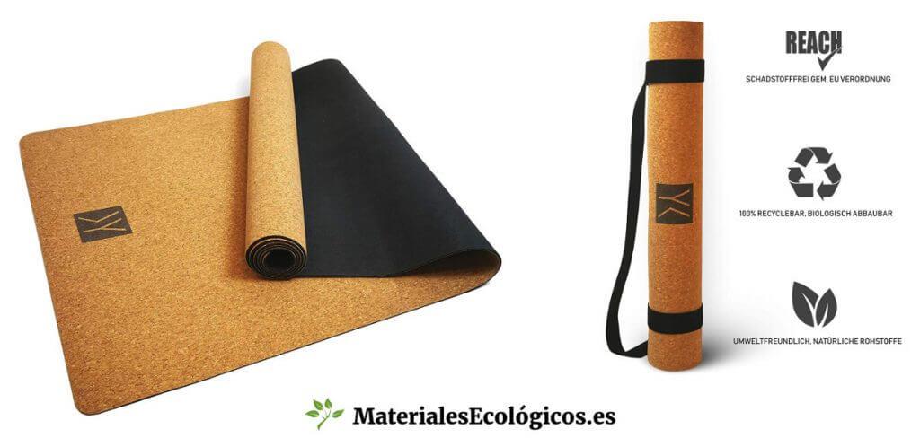 Colchonetas corcho natural para yoga y pilates