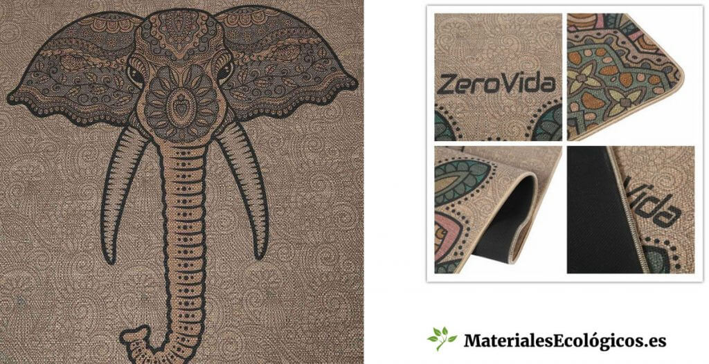 Esterillas de yoga ecológicas de lino y caucho natural