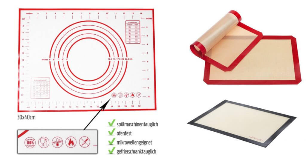 Láminas de silicona para hornear reutilizables