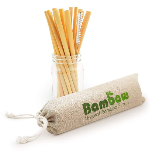 Alternativas a las pajitas de plástico: pajitas de bambú