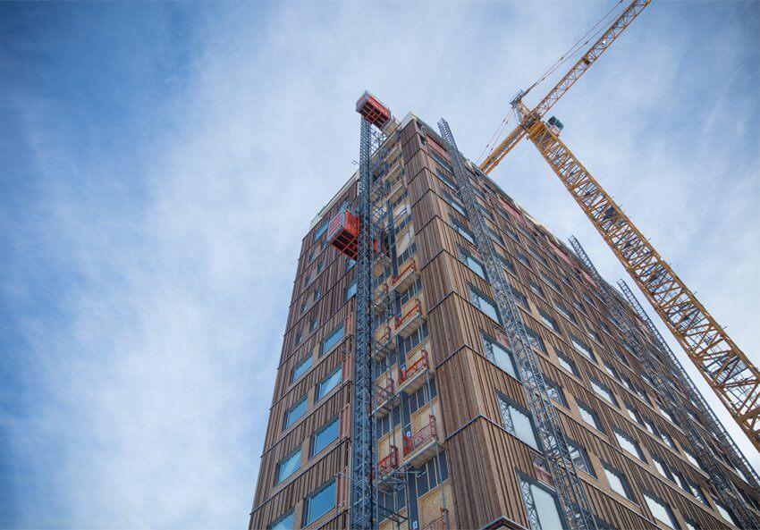 Construcción Torre Mjøsa con mass timber (masa de madera)
