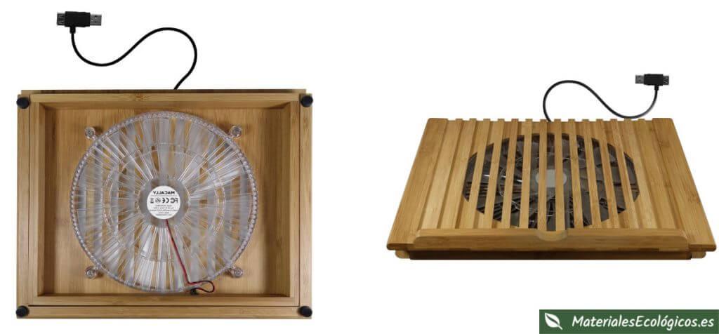 Soporte de bambú para ordenador portátil