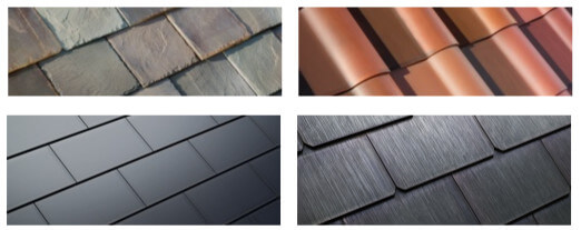 Tipos de tejas solares Tesla Solar Roof