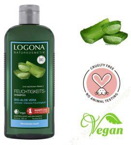 Champú de aloe vera vegano y ecológico Logona