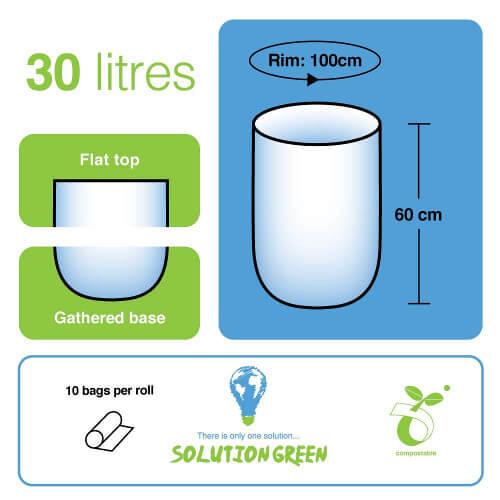 Medidas bolsas compostables