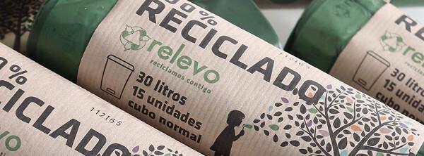 Bolsas de basura recicladas
