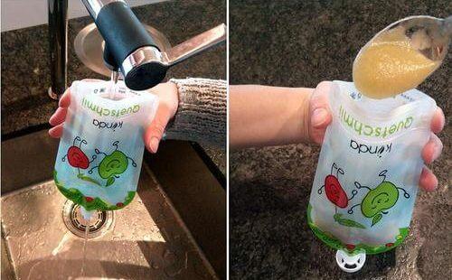 Bolsas comidas reutilizables para bebés