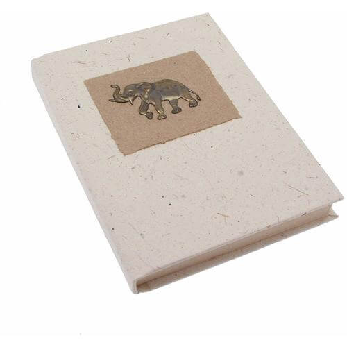Cuaderno de estiércol de elefante