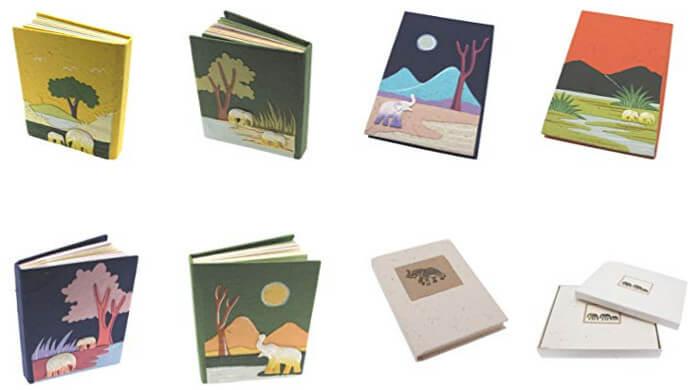 Cuadernos de estiercol de elefante