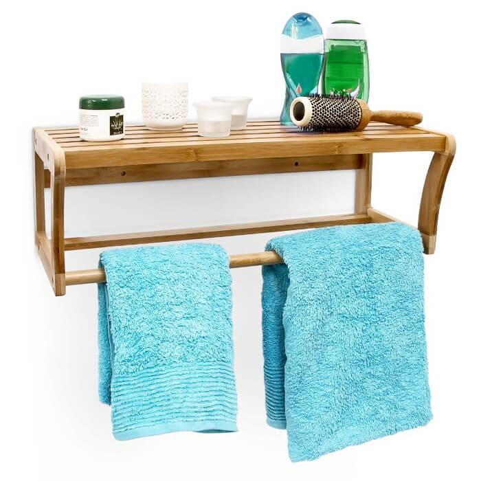 Estanterías de bambú para baños