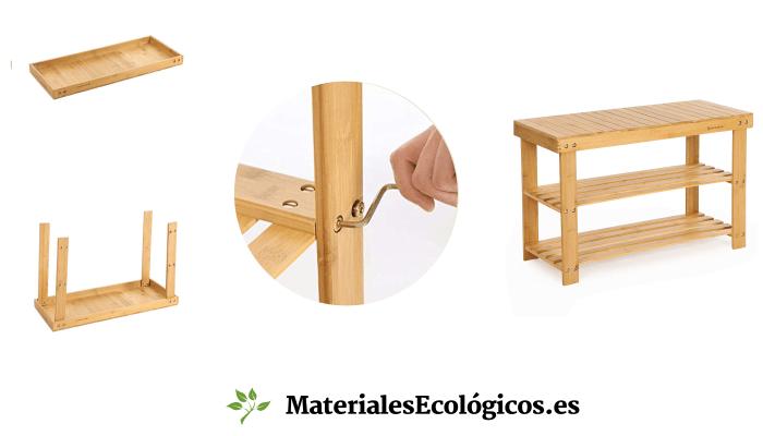 Montaje estanterías de bambú