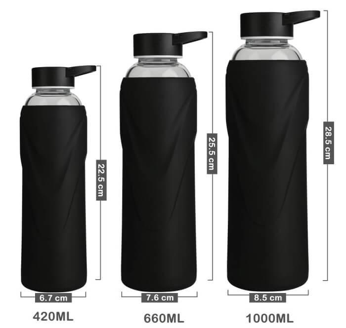 Tamaños de las botellas