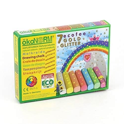 Tizas ecológicas de colores glitter