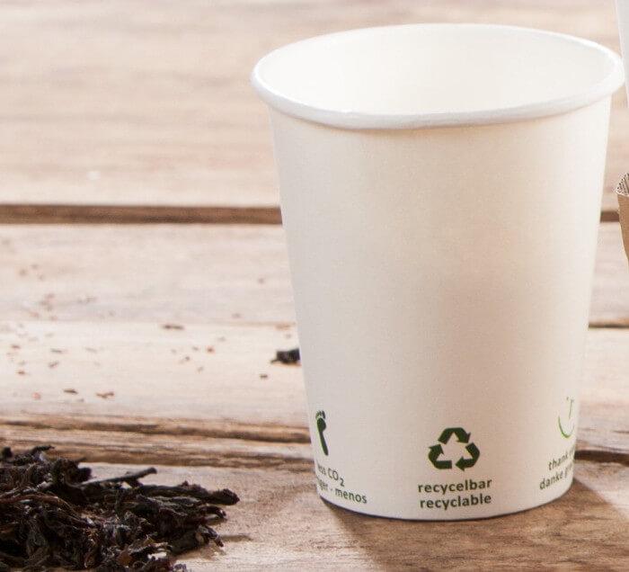 Vasos biodegradables compostables