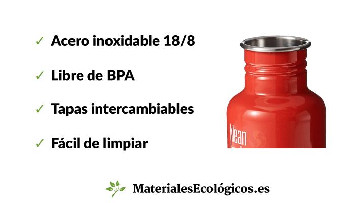 Características botellas para niños de acero inoxidable