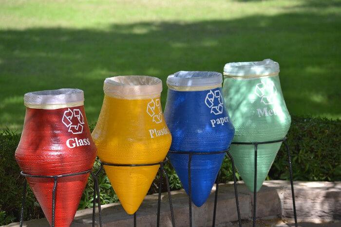 Contenedores de reciclaje