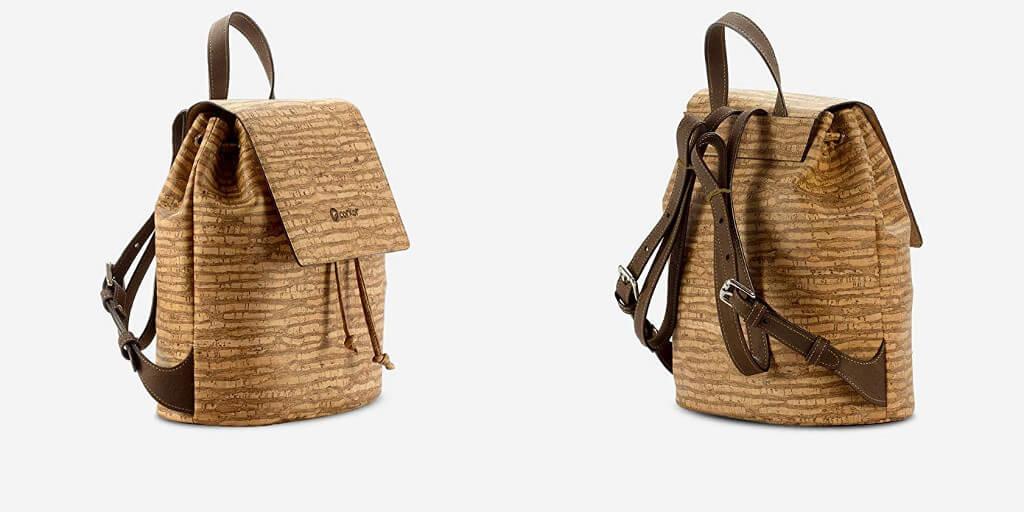 Mochilas y bolsos veganos de piel corcho