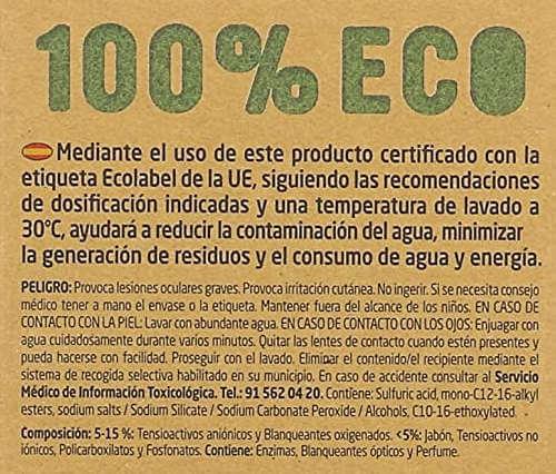 detergente ecologico Lagarto etiqueta