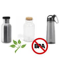 Botellas reutilizables libres de BPA y ftalatos