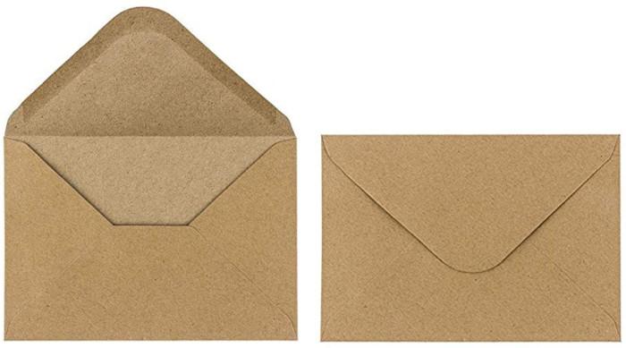 """sobres de papel kraft """"estraza"""" reciclados y ecológicos"""