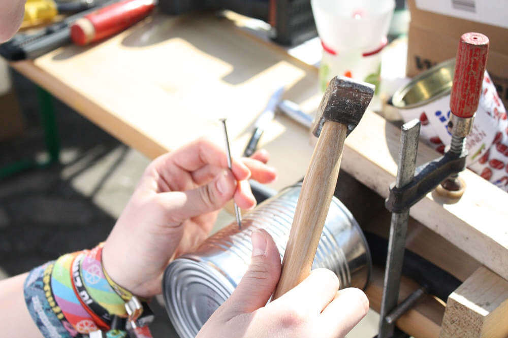 herramientas de bricolaje mango madera