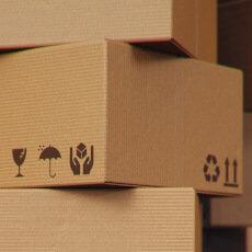 cajas de cartón corrugado recicladas