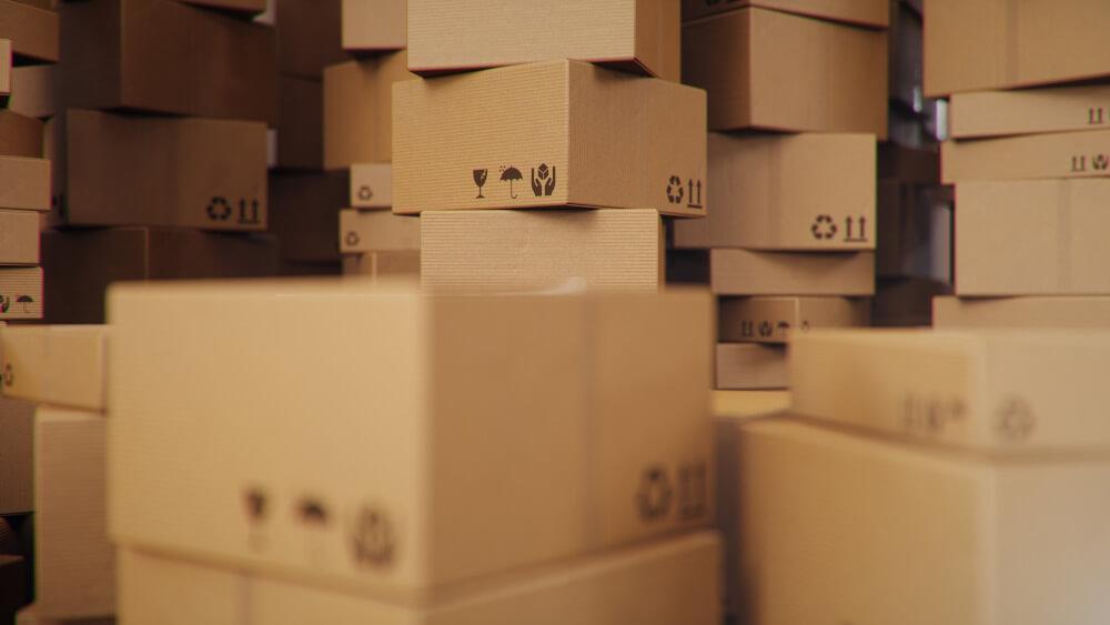 cajas recicladas y reciclables de cartón corrugado